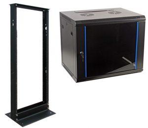 server rack, open rack, network installation, enclosure racks